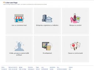 choisir type page facebook