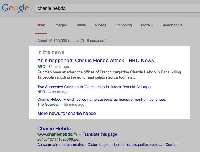 actualité google news